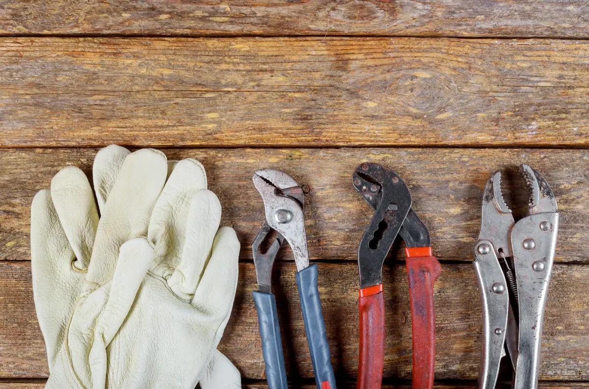 Ambler plumber PlumbPRO Abington protective gloves and tools